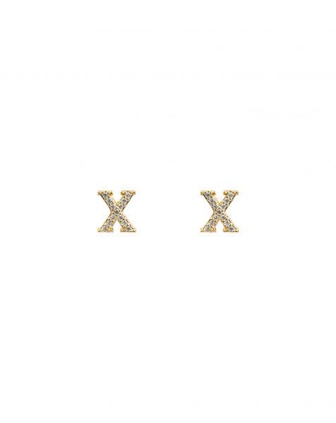 SPARKLING X EARRINGS GOLD