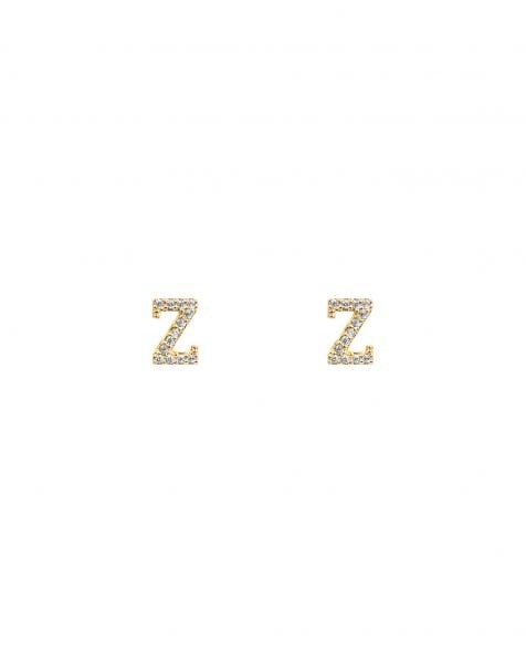 SPARKLING Z EARRINGS GOLD