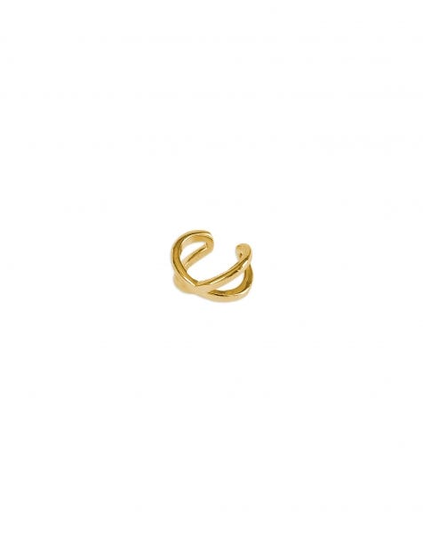 CROSSOVER EARCUFF GOLD