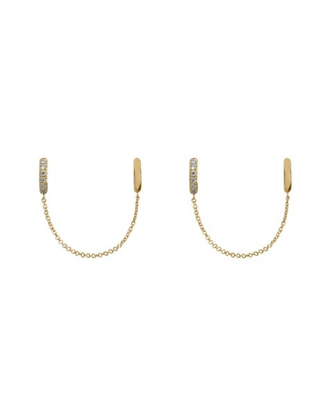 LET ME CUFF YOU EARRINGS GOLD