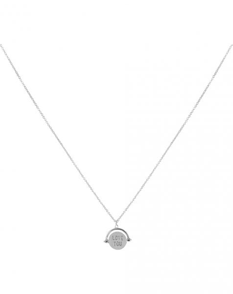LET ME LOVE YOU NECKLACE SILVER