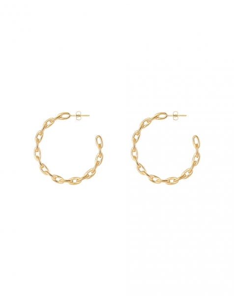 LOVE CHAIN EARRINGS GOLD