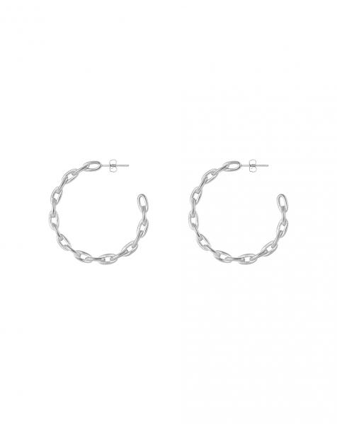 LOVE CHAIN EARRINGS SILVER