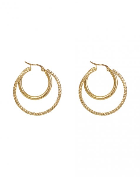 THINK TWICE EARRINGS GOLD