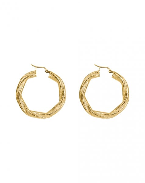 TWIST IT UP EARRINGS GOLD