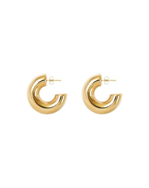 MAKE THE WORLD GO ROUND EARRINGS GOLD